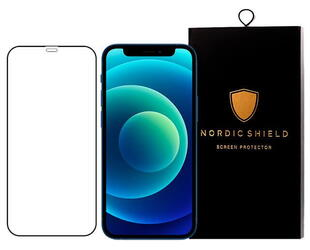 Nordic Shield Apple iPhone 12 Pro Max Screen Protector 3D Curved Black (Blister)