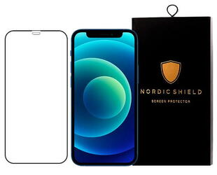 Nordic Shield Apple iPhone 12/12 Pro Screen Protector 3D Curved Black (Blister)