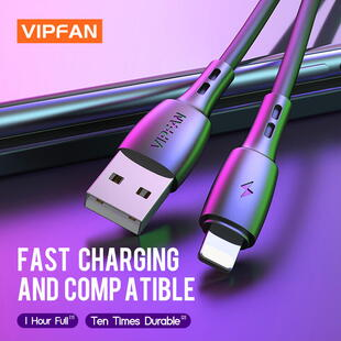 VIPFAN CB-X5 Lightning Cable (1m.) Black Blister