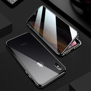 Magnetic Front and Back Cover for iPhone X/XS - Black