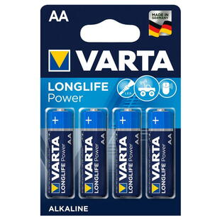 VARTA ALKALINE AA (LR6) 1,5V BATTERY, 4 Pcs. Blister