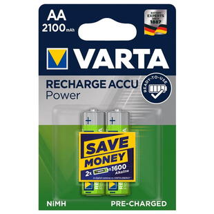 VARTA Rechargeable AA (HR6) 1,2V-2100mAh NI-MH Battery 2 Pcs. Blister