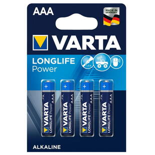 VARTA ALKALINE AAA (LR3) 1,5V BATTERY, 4 Pcs. Blister