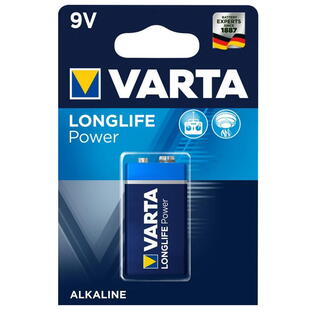 VARTA ALKALINE 9V BATTERY, (E-Block) 1 Pcs. Blister