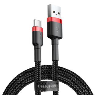 Baseus Cafule Data USB - USB Typ C Cable 2m Black/Red