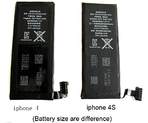 Apple iPhone 4S Batteri A Bulk (APN.616-0579)