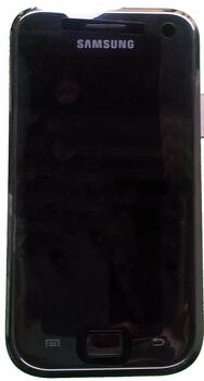 Samsung Galaxy S Plus Display Enhed m/Front Cover Sort