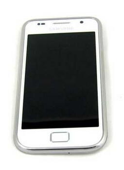 Samsung Galaxy S Plus Display Enhed m/Front Cover Hvid