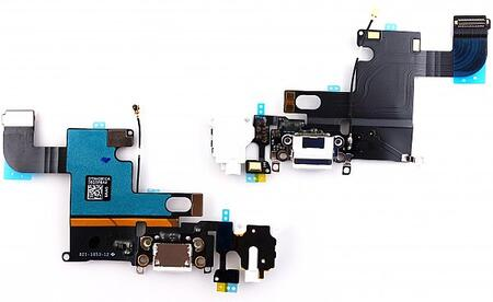 Apple iPhone 6 Charging/Audio Jack Flex Cable White