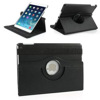 360 Degree Rotating Leather Case for iPad Air/Air 2/2017/2018 - Black