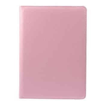 360 Degree Rotating Leather Case til iPad Air/Air 2/2017/2018 - Pink