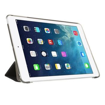 iPad Air Tri-folding Smart Leather Flip Cover - Black