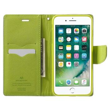 MERCURY GOOSPERY Leather Wallet Case for iPhone 8 Plus/7 Plus Dark Blue/Green