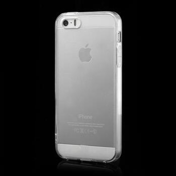 Transparent TPU Edges & Crystal PC Back Case til iPhone SE / 5s / 5