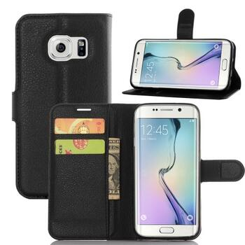 Litchi Texture Wallet Stand Leather Case for Samsung Galaxy S7 Edge Black