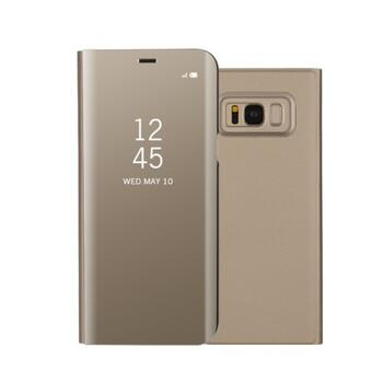Plated Mirror Surface View Case for Samsung Galaxy S8 Gold