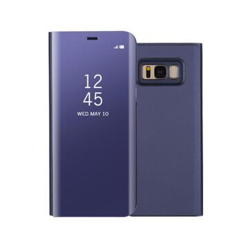 Plated Mirror Surface View Case for Samsung Galaxy S8 Purple