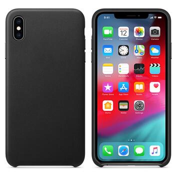 Real Leather Case for iPhone XS Max Black