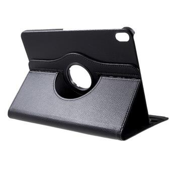 iPad Pro 11-inch (2018) Litchi Grain Leather Cover with 360 Degree Rotary Stand - Black