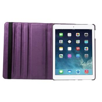 360 Degree Rotating Leather Case for iPad 2/3/4 - Purple