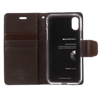 MERCURY GOOSPERY Sonata Diary Case for iPhone X / XS Coffee