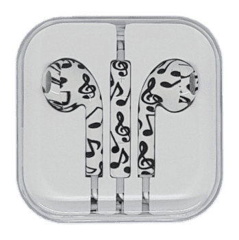 In-Ear Headset with remote/mic White/Node