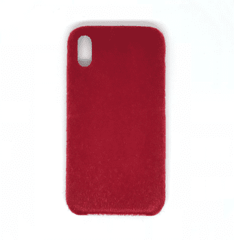 Horse Hair Hard Case for iPhone X Red