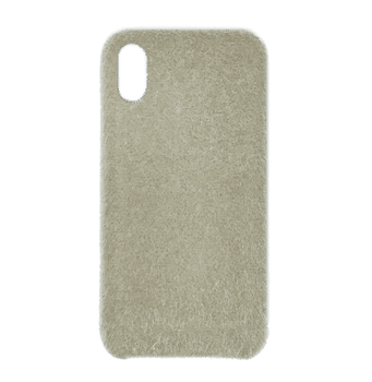 Horse Hair Hard Case for iPhone X White