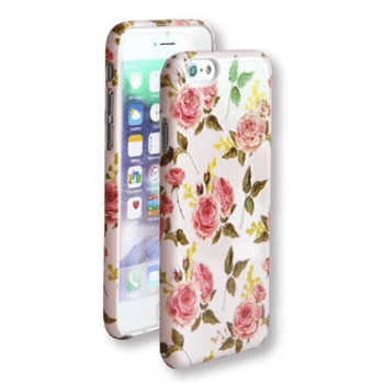 Flower Hard Case with Roses for iPhone 7 Plus/8 Plus Pink