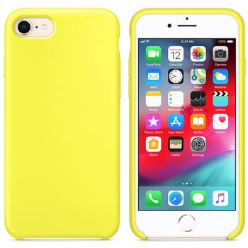 Hard Silicone Case for iPhone 7/8 Yellow