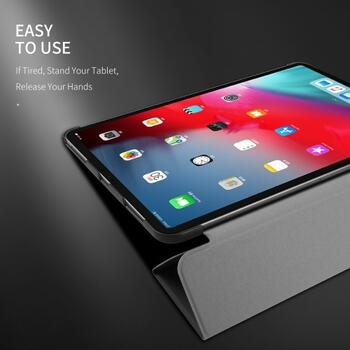 DUX DUCIS Domo Series Cloth Texture Tri-fold Stand PU Leather Smart Case for iPad Pro 11-inch (2020) - Black