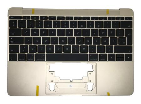 MacBook 12'' A1534 (Early 2016-2017) Keyboard Nordic Layout Gold