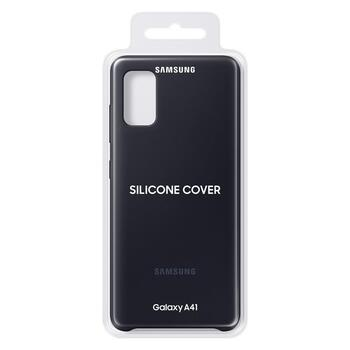 Samsung Silicone Cover Flexible Gel Case for Samsung Galaxy A41 Black