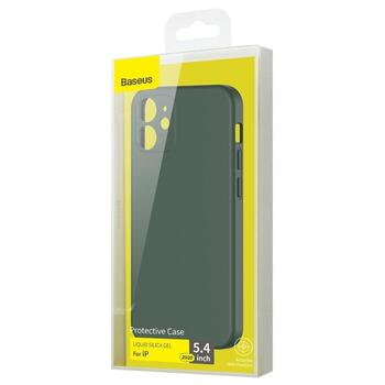 Baseus Liquid Silica Gel Case for iPhone 12 Mini Dark Green