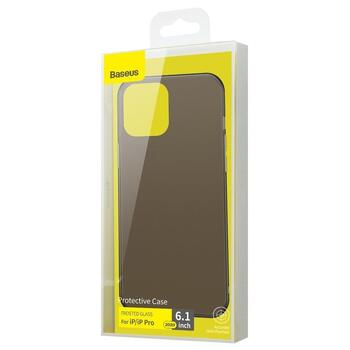 Baseus Frosted Glass Case for iPhone 12/12 Pro Black
