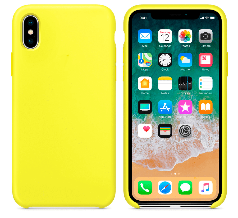 save off 1afad bfac2 Hard Silicone Case for iPhone X Yellow