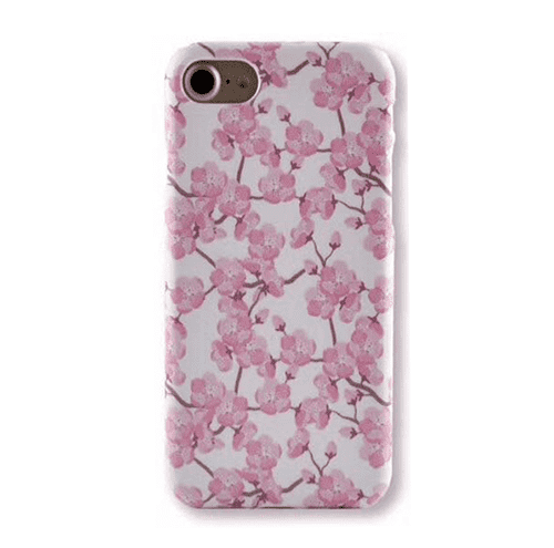 arrives c3956 e6e05 Flower Hard Case with Cherry Blossoms for iPhone 7 Plus/8 Plus Pink